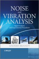 Cover image for Noise and vibration analysis : signal analysis and experimental procedures