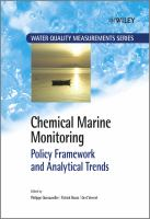 Cover image for Chemical marine monitoring : policy framework and analytical trends