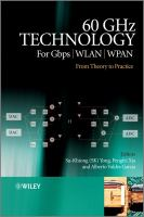 Cover image for 60 GHz technology for Gbps WLAN and WPAN : from theory to practice
