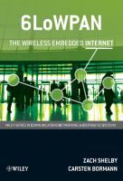 Cover image for 6LoWPAN : the wireless embedded internet