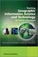 Cover image for Teaching geographic information science and technology in higher education