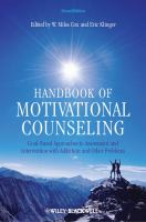 Cover image for Handbook of motivational counseling : goal-based approaches to assessment and intervention with addiction and other problems