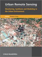 Cover image for Urban remote sensing : monitoring, synthesis and modeling in the urban environment