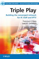Cover image for Triple play : building the converged network for IP, VoIP and IPTV