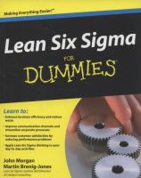 Cover image for Lean six sigma for dummies