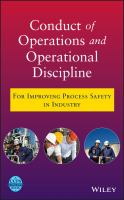 Cover image for Conduct of operations and operational discipline : for improving process safety in industry