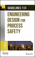 Cover image for Guidelines for engineering design for process safety