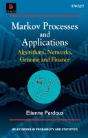 Cover image for Markov processes and applications : algorithms, networks, genome and finance