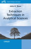 Cover image for Extraction techniques in analytical science
