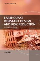 Cover image for Earthquake resistant design and risk reduction