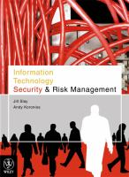 Cover image for Information technology security & risk management
