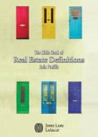 Cover image for The little book of real estate definitions : Asia Pacific