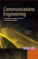 Cover image for Communications engineering : essentials for computer scientists and electrical engineers