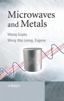 Cover image for Microwaves and metals
