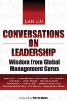 Cover image for Conversations on leadership : wisdom from global management gurus