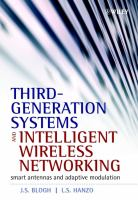 Cover image for Third-generation systems and intelligent wireless networking : smart antennas and adaptive modulation