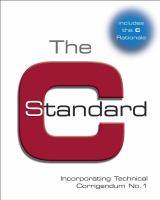 Cover image for The C Standard : incorporating technical corrigendum 1