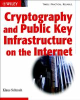 Cover image for Cryptography and public key infrastructure on the Internet