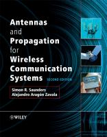 Cover image for Antennas and propagation for wireless communication systems