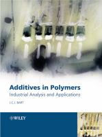 Cover image for Additives in polymers : industrial analysis and applications