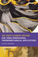 Cover image for The finite element method for three-dimensional thermomechanical applications