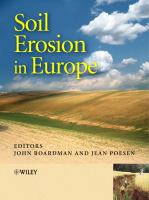 Cover image for Soil erosion in Europe
