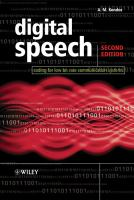 Cover image for Digital speech : coding for low bit rate communication systems