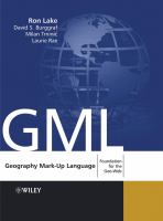 Cover image for Geography mark-up language foundation for the geo-web
