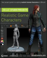Cover image for ZBrush studio projects : realistic game characters