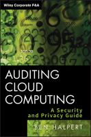 Cover image for Auditing cloud computing : a security and privacy guide