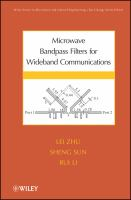 Cover image for Microwave bandpass filters for wideband communications