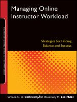 Cover image for Managing online instructor workload : strategies for finding balance and success