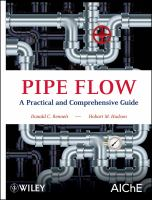 Cover image for Pipe flow : a practical and comprehensive guide