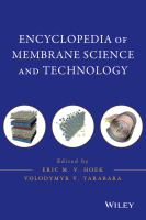 Cover image for Encyclopedia of membrane science and technology