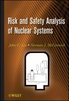 Cover image for Risk and Safety Analysis of Nuclear Systems