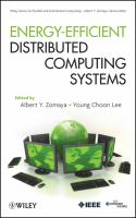 Cover image for Energy efficient distributed computing systems