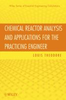 Cover image for Chemical reactor analysis and applications for the practicing engineer