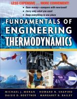 Cover image for Fundamentals of engineering thermodynamics.