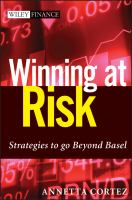 Cover image for Winning at risk : strategies to go beyond Basel