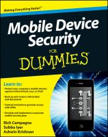 Cover image for Mobile device security for dummies