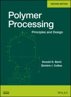 Cover image for Polymer processing : principles and design