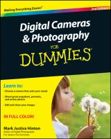 Cover image for Digital cameras & photography for dummies