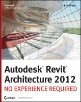 Cover image for Autodesk Revit architecture 2012 : no experience required