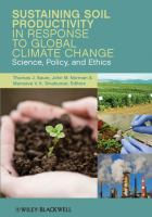 Cover image for Sustaining soil productivity in response to global climate change : science, policy, and ethics