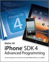 Cover image for Advanced iOS 4 programming : developing mobile applications for Apple iPhone, iPad, and iPod touch