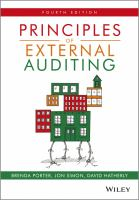 Cover image for Principles of external auditing