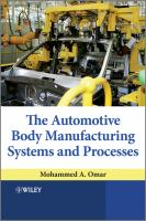 Cover image for The automotive body manufacturing systems and processes