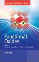 Cover image for Functional oxides