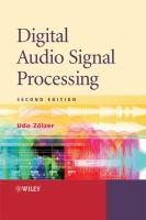 Cover image for Digital audio signal processing