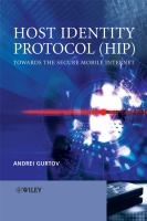 Cover image for Host identity protocol (HIP) : towards the secure mobile internet